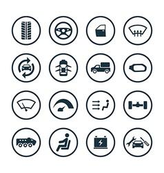 car icons universal set vector image