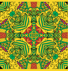 colorful decorative floral pattern vector image vector image