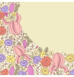 Hand drawn floral pattern vector image vector image