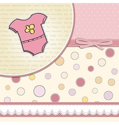new baby girl announcement card vector image vector image