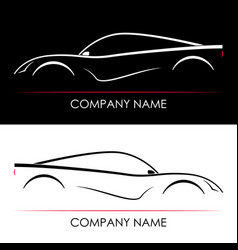 set of abstract sports car silhouettes template vector image vector image