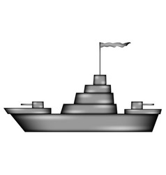 warship sign icon vector image