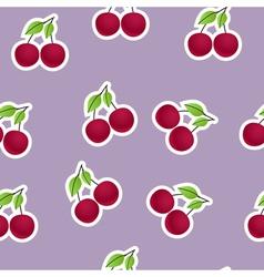 Cherries background vector image