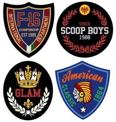 classic royal emblem badge vector image vector image