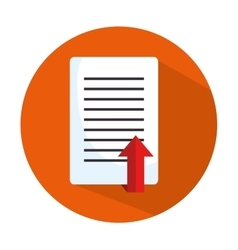 Icon document upload process design isolated vector