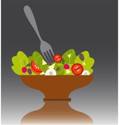 Salad bowl vector