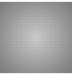 Structured gray metallic perforated sheet vector image vector image