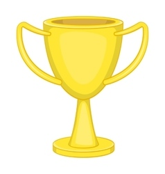 Winner trophy cup icon cartoon style vector image vector image
