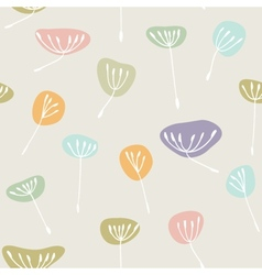Cute floral seamless background vector image