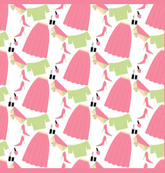 fashion look pattern vector image
