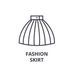 fashion skirt line icon outline sign linear vector image