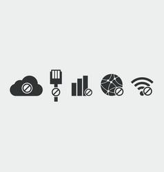 No internet connection icon vector