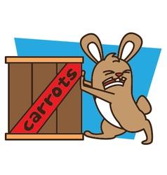 Push Rabbit vector image