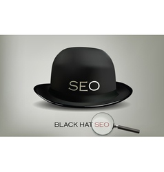 seo black hat vector image vector image