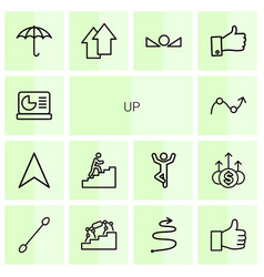 14 up icons vector