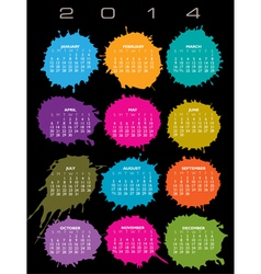 2014 Splatter Calendar vector
