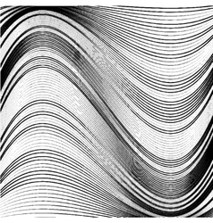 Abstract background of wavy lines vector