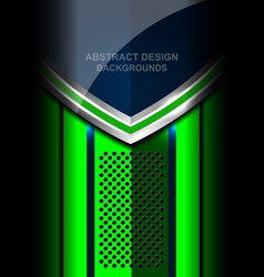 abstract metal green background design vector image