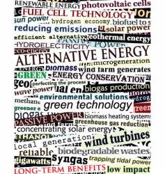 alternative energy headlines vector image