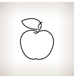 Apple in the Contours vector image