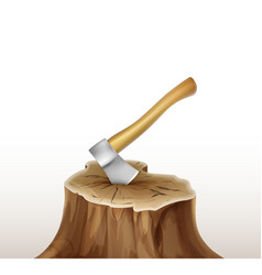 Axe in stump vector