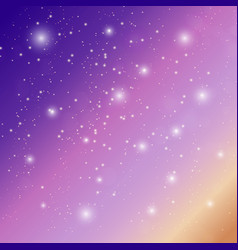 background sky with stars vector image