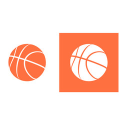 Basketball ball icon isolated basket ball vector