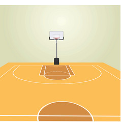 basketball court front view vector image