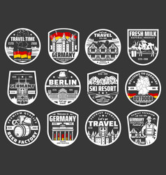 Berlin city tours welcome to germany landmarks vector