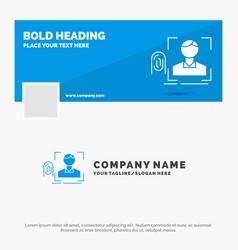 blue business logo template for finger vector image