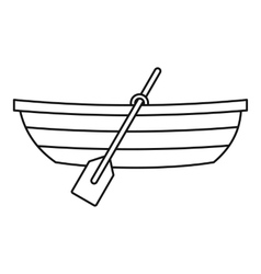 Boat with paddles icon outline style vector