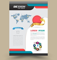 Brochure Flyer graphic design Layout vector image