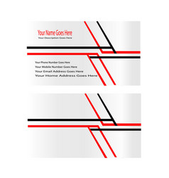 business card line vector image