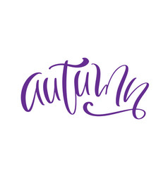 calligraphy lettering text autumn hand vector image