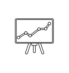chart presentation board vector image
