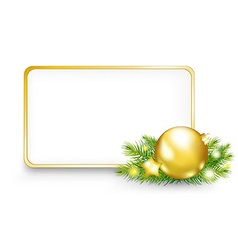 Christmas Or New Year Frame vector image