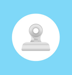 clip icon sign symbol vector image