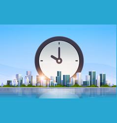 clock icon time management deadline business vector image