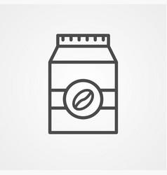 coffee bag icon sign symbol vector image