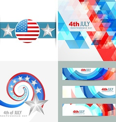Collection of creative american independence day vector