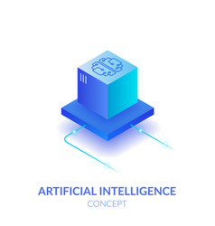 concept artificial intelligence vector image