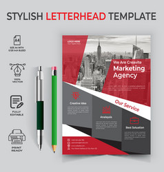 Corporate flyer business flyer design template vector