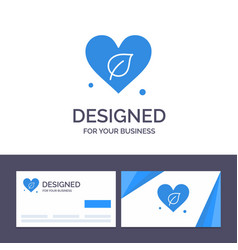 creative business card and logo template heart vector image