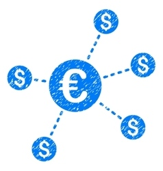 Currency Network Nodes Grainy Texture Icon vector