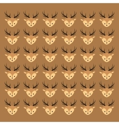 Cute deer head pattern background image vector