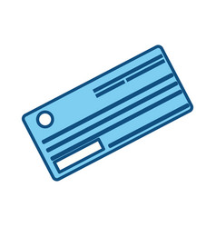 cute paper check bank to pay vector image