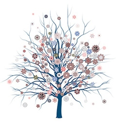 Cute Romantic Tree vector image vector image