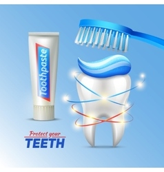 Dental concept Of Teeth Protection vector image