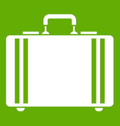 Diplomat icon green vector