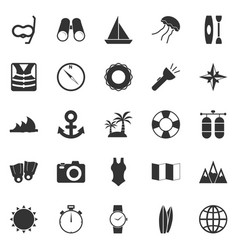 Diving icons on white background vector